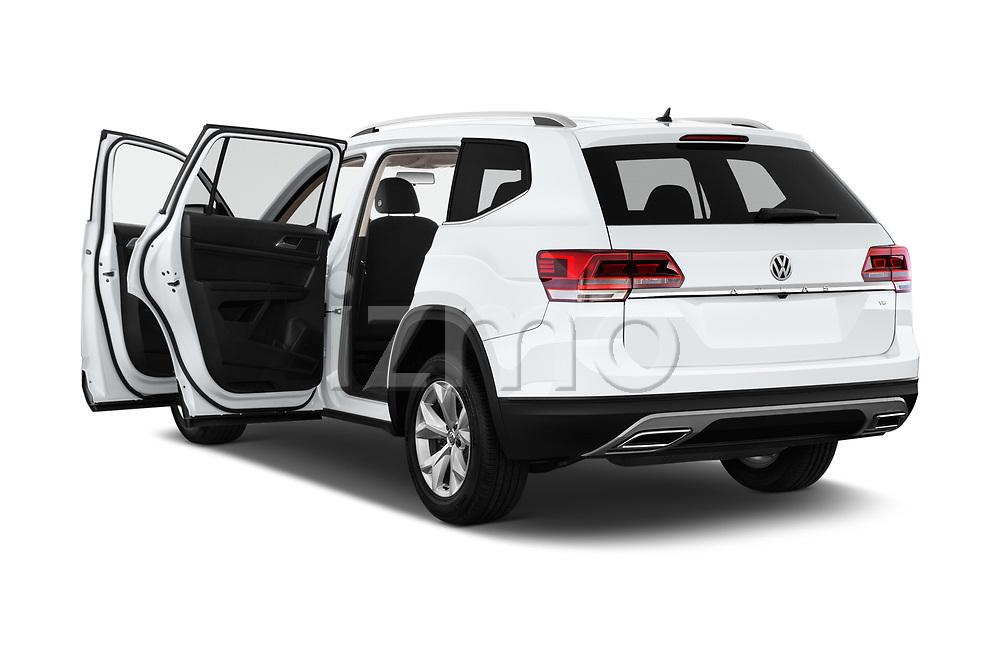 Car images close up view of a 2018 Volkswagen Atlas S 5 Door SUV doors