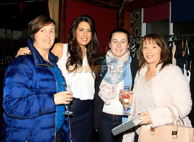 Aileen Cunningham, Aideen Skinnader, Kelly Cunningham and Siobhan Faulkner on Friday 5th December 2014.<br /> Picture:  Thos Caffrey / www.newsfile.ie