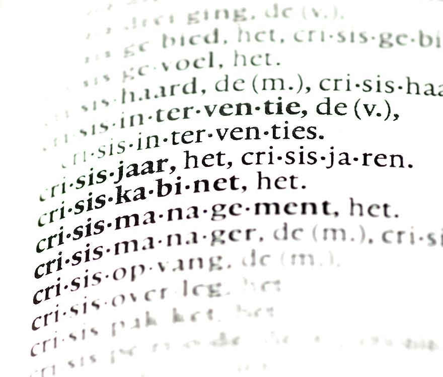 driebergen, 3 maart 2009.illustratie met als thema,  de crisis waar nederland in verkeert.. Foto: (c) Renee Teunis