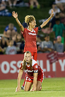 Boyds, MD. - Saturday, June 24 2017:  Meggie Dougherty Howard, Estelle Johnsonduring a regular season National Women's Soccer League (NWSL) match between the Washington Spirit and the Portland Thorns FC at Maureen Hendricks Field, Maryland SoccerPlex. The Washington Spirit defeated Portland Thorns FC 1-0.