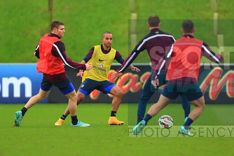 Theo Walcott of England in action - England Training & Press Conference - UEFA Euro 2016 Qualifying - St George's Park - Burton-upon-Trent - 11/11/2014 Pic Philip Oldham/Sportimage