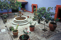 Courtyard of the Museo Casa de Juarez in the city of Oaxaca, Mexico