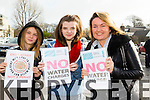 Attending the Water Charges Protest at the Brandon car park Tralee on Saturday were Erin Lithcow Katie Mangan Jackie Lithcow
