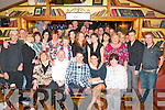 FOUR 0 FORTY: Francis Hobbert, Ballymac, Tralee (seated centre) had a great time celebrating his 40th birthday last Saturday night in Stokers Lodge, Tralee surrounded by family and friends.