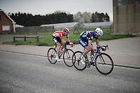 Julian Alaphilippe (FRA/Etixx-QuickStep) &amp; Tim Wellens (BEL/Lotto-Soudal) team up to try and force a decisive move<br /> <br /> 56th De Brabantse Pijl - La Fl&egrave;che Braban&ccedil;onne (1.HC)
