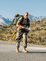 The 2019 Bataan Memorial Death March at the White Sands Missile Range in White Sands, New Mexico, Sunday, March 17, 2019. The march and marathon began in 1989 and commemorates the group of World War II veterans who defended the Bataan peninsula and Corregidor Island in the Philippines.
