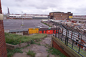 23/06/2000 Blackpool FC Bloomfield Road Ground..Kop visitors exit view towards the Mecca and Rigby Rd coach/car park....© Phill Heywood.