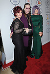 Sharon Osbourne,Kelly Osbourne and Ozzy Osbourne attends Pre-GRAMMY Gala & Salute to Industry Icons with Clive Davis Honoring Lucian Grainge held at The Beverly Hilton Hotel in Beverly Hills, California on January 25,2014                                                                               © 2014 Hollywood Press Agency