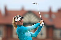 Jessica Korda (USA) on the 2nd fairway during Round 3 of the Ricoh Women's British Open at Royal Lytham &amp; St. Annes on Saturday 4th August 2018.<br /> Picture:  Thos Caffrey / Golffile<br /> <br /> All photo usage must carry mandatory copyright credit (&copy; Golffile | Thos Caffrey)