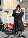 Bridie Maxwell at the annual Drogheda Remembrance Day ceremony at Mary Street.<br /> <br /> <br /> photo - Jenny Matthews
