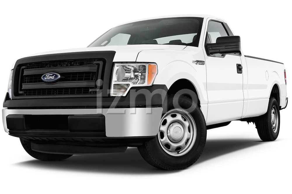Low aggressive front three quarter view of a 2013 Ford F150 XL Reg Cab