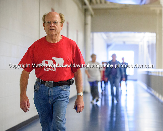 Carl xxxxxxx, walks about nine miles a day at the Altoona Campus.