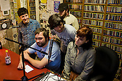 I Was Totally Destroying It does an on-air interview at the WXDU studio at on Duke's East Campus, Sunday, Oct. 4, 2009.