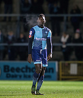 Aaron Pierre of Wycombe Wanderers during the The Checkatrade Trophy Southern Group D match between Wycombe Wanderers and Coventry City at Adams Park, High Wycombe, England on 9 November 2016. Photo by Andy Rowland.