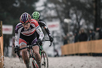 later winner David Van Der Poel (NED/Beobank Corendon) plowing through the sand.<br /> <br /> <br /> men's elite race<br /> Lampiris Zilvermeercross Mol / Belgium 2017