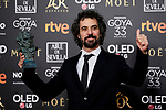Alvaro Bretchner (best adapted screeplay award for the film 'La noche de los doce años') attends to 33rd Goya Awards at Fibes - Conference and Exhibition  in Seville, Spain. February 02, 2019. (ALTERPHOTOS/A. Perez Meca)