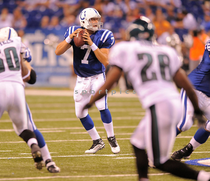 CURTIS PAINTER,of the Indianapolis Colts  in action  during the Colts game against the Philadelphia Eagels  on August 20, 2009 in  Indianapolis, IN  The Colts beat  the Eagles 23-15.