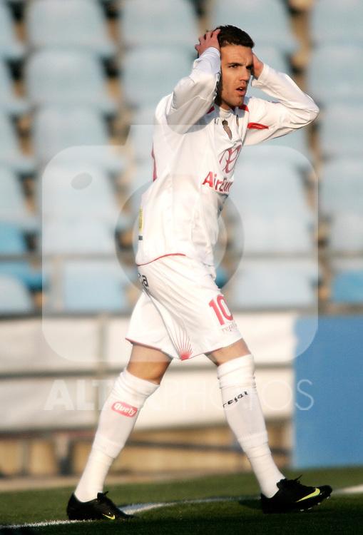 Mallorca's Julio Alvarez dejected during La Liga match. March 11, 2010. (ALTERPHOTOS/Alvaro Hernandez)