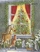Ingrid, CHRISTMAS SYMBOLS, WEIHNACHTEN SYMBOLE, NAVIDAD SÍMBOLOS,fox,deer,owl, paintings+++++,USISMC59C,#xx#
