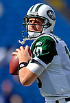 30 September 2007: New York Jets quarterback Chad Pennington warms up prior to facing the Buffalo Bills at Ralph Wilson Stadium in Orchard Park, NY. The Bills defeated the Jets 17-14 handing the Jets their third loss of the season...Mandatory Photo Credit: Ed Wolfstein Photo