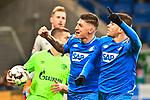 01.12.2018, wirsol Rhein-Neckar-Arena, Sinsheim, GER, 1 FBL, TSG 1899 Hoffenheim vs FC Schalke 04, <br /> <br /> DFL REGULATIONS PROHIBIT ANY USE OF PHOTOGRAPHS AS IMAGE SEQUENCES AND/OR QUASI-VIDEO.<br /> <br /> im Bild: Andrej Kramaric (TSG Hoffenheim #27) jubelt mit Steven Zuber (TSG Hoffenheim #17) ueber sein Tor zum 1:0<br /> <br /> Foto © nordphoto / Fabisch