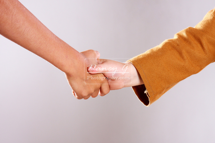 Handshake between two boys