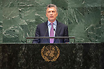 DSG meeting<br /> <br /> AM Plenary General DebateHis<br /> <br /> <br />  His Excellency Mauricio MACRI President of the Republic of Argentina