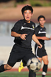 Palos Verdes, CA 02/03/12 - Kyle Katayama (Peninsula #6) in action during the Peninsula vs Palos Verdes boys varsity soccer game.