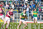Kerry's Eoin Brosnan and Galwey's Owen Concannon contest for the ball during their Allianz National Football League clash in Killarney last Sunday