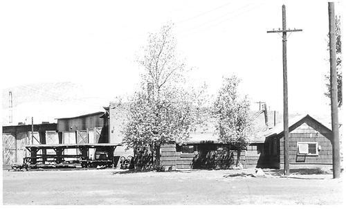 D&amp;RGW Durango roundhouse south side.<br /> D&amp;RGW  Durango, CO