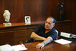 Yona Yahav, mayor of Haifa, Israel, at his office.<br />