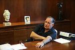 Yona Yahav, mayor of Haifa, Israel, at his office.<br /> <br /> Photo by Ahikam Seri