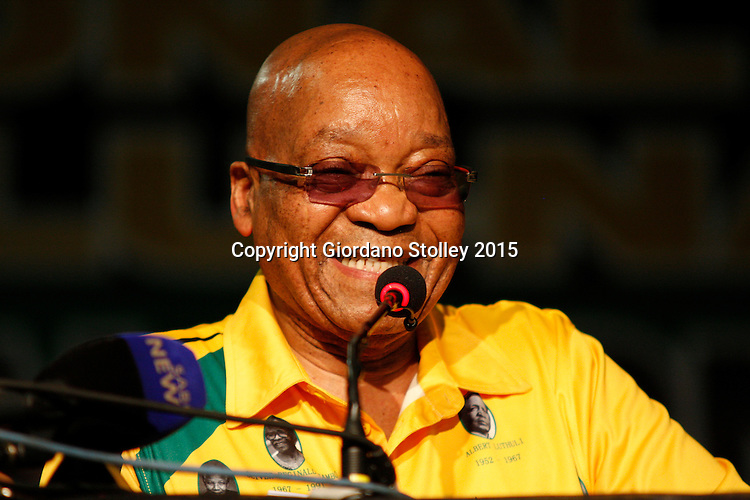 PIETERMARITZBURG - 7 November 2015 - South African president Jacob Zuma addresses delegates of the ruling African National Congress to the party's KwaZulu-Natal provincial elective converence. Picture: Allied Picture Press/APP