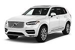 2018 Volvo XC90 Inscription 5 Door SUV angular front stock photos of front three quarter view
