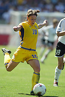 Sweden's Hanna Ljungberg, Germany 2-1 over Sweden in the 2003 WWC Finals.