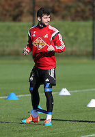 Pictured: Jordi Amat Wednesday 05 November 2014<br /> Re: Swansea City FC players training at Fairwood training ground, ahead of their Premier League game against Arsenal on Sunday.