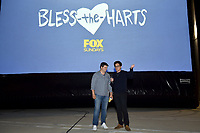 """LOS ANGELES - SEPTEMBER 26: FOX ANIMATION DOMINATION -  Chris Miller (left) and Phil Lord attend the FOX Animation Domination Rooftop Screening of """"Bless the Harts"""" at The Grove on September 26, 2019 in Los Angeles, California. (Photo by Lionel Hahn/Fox/PictureGroup)"""