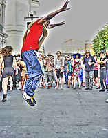 Dancing Man 504 at Jackson Square during French Quarter Festival 2011.