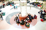 People wait in the lobby in Hartsfield-Jackson Atlanta International Airport in Atlanta, Georgia outside of the screening area January 6, 2009.
