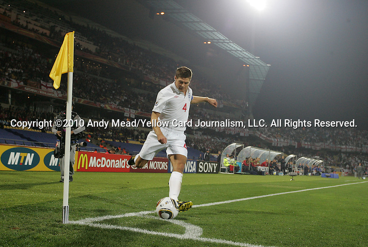 12 JUN 2010: Steven Gerrard (ENG). The England National Team played the United States National Team to a 1-1 tie at Royal Bafokeng Stadium in Rustenburg, South Africa in a 2010 FIFA World Cup Group C match.