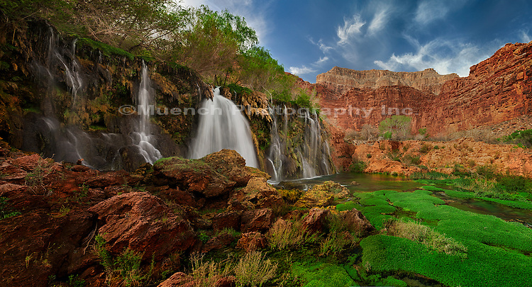 50 Foot Falls, Havasupai Reservation, Grand Canyon National Park, Arizona