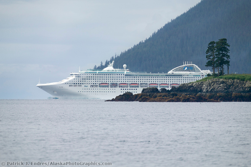 Princess cruise ship, northern Prince William Sound, Alaska