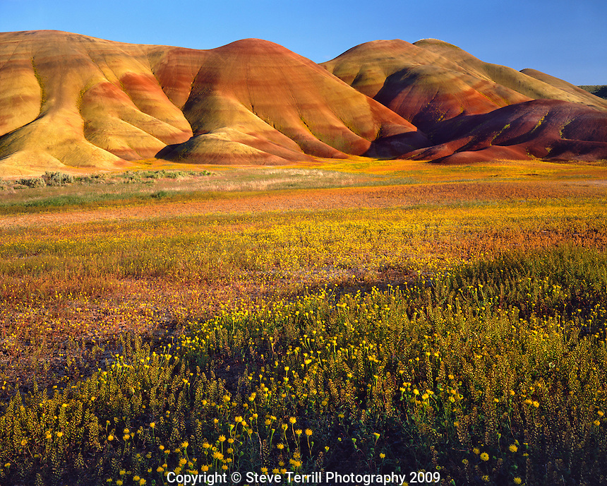 Painted Hills unit in John Day Fossil Beds National Monument Oregon