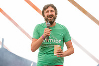 Comedian Mark Watson performs on day 2 of the 2019 Latitude Festival at Henham Park, Suffolk. 20th July 2019<br /> <br /> Photo by Stuart Hogben