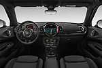 Stock photo of straight dashboard view of a 2018 Mini Clubman Cooper Kensington 5 Door Wagon