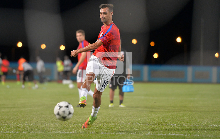 Couva, Trinidad & Tobago - Tuesday Oct. 10, 2017: Chris Wondolowski during a 2018 FIFA World Cup Qualifier between the men's national teams of the United States (USA) and Trinidad & Tobago (TRI) at Ato Boldon Stadium.