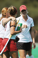 Stanford, CA - SEPTEMBER 13:  Assistant coach Mandy Hart of the Stanford Cardinal during Stanford's 3-2 loss against the Iowa Hawkeyes on September 13, 2008 at the Varsity Field Hockey Turf in Stanford, California.