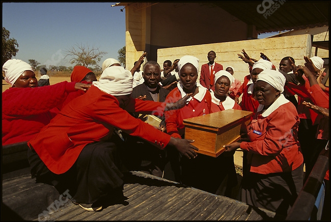 Leopard Hill Cemetery, Lusaka, Zambia, July 1993.