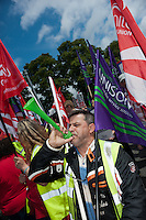 A joint Unison/Unite march and rally to mark the day when 5 strikes are taking place: refuse collectors, Itchen Bridge toll collectors, traffic wardens, street cleaners and the cleaners who work for Medirest at Southamnpton General Hospital.