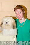 Michael Stuart, Castleisland, with his Lhasa Apso Cooper at the Tralee and District Dog Show in Currow Community Centre last Sunday..